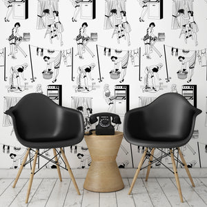 50s Housewives Wallpaper by DuPenny