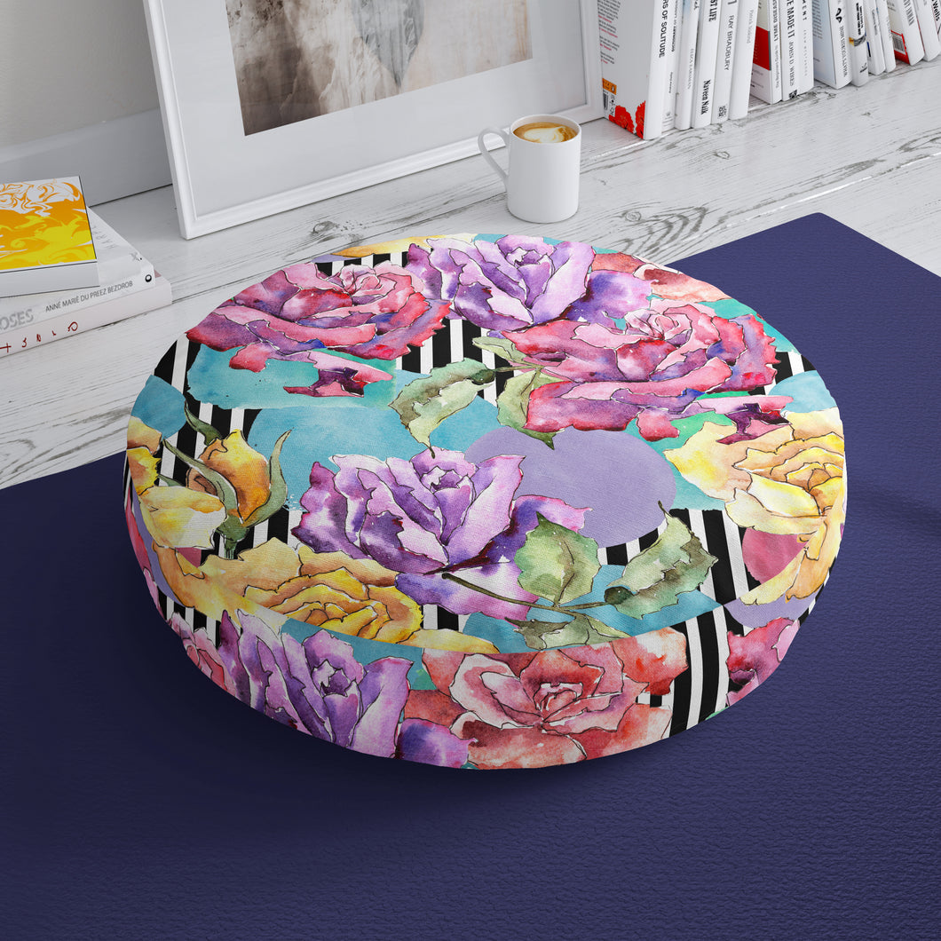 Bright Floral Floor Cushion