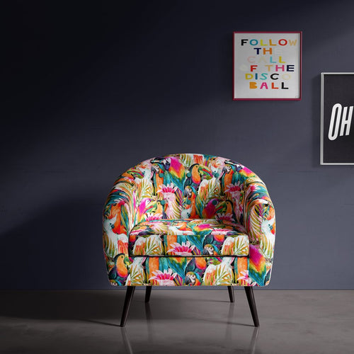 Tropical Print Occasional Chair