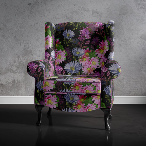Modern Floral Accent Chair