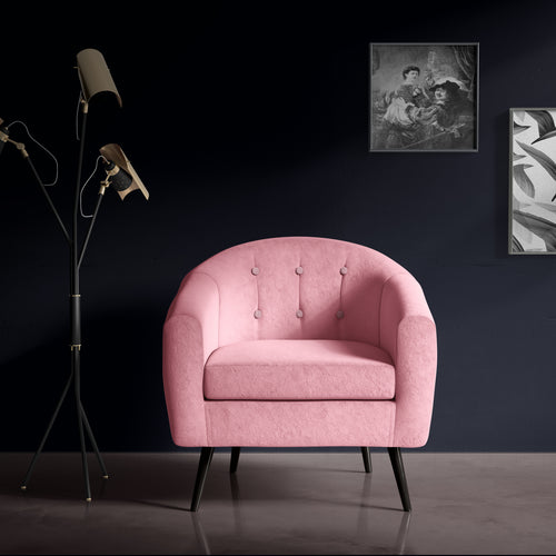Baby Pink Occasional Chair