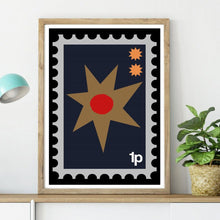 Folk Stamp Star