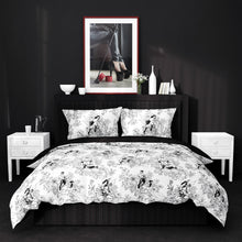 Dom Bedding in Black and White