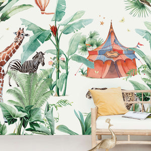 Jungle Circus Wallpaper Mural