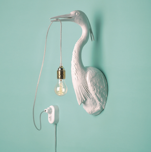 White Heron Wall Light