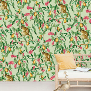 Tropical Monkey Wallpaper Mural