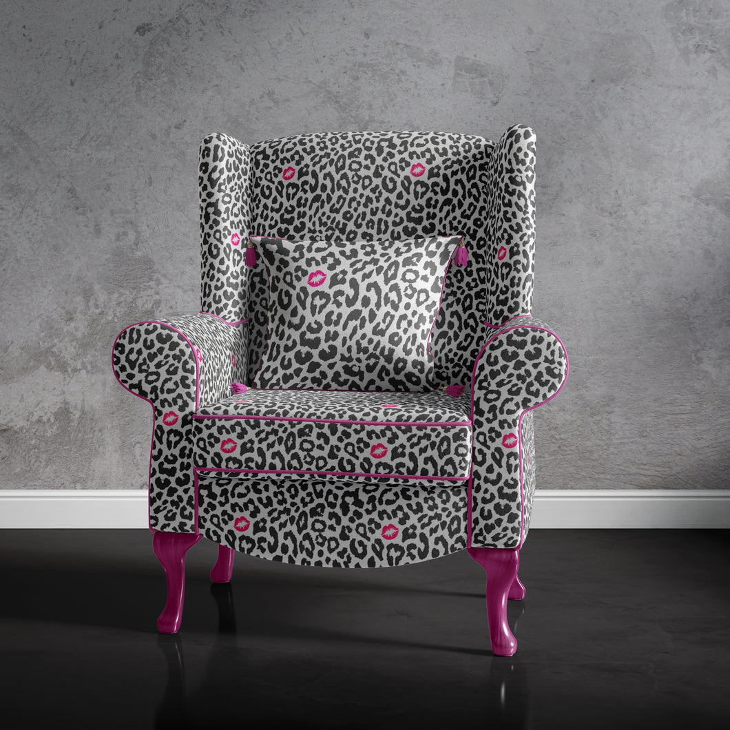 Animal Print Accent Armchair