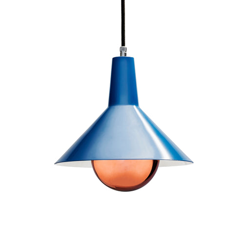 blue retro lighshade