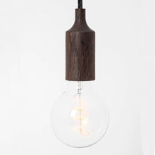 dark wood feature light