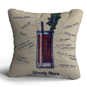 Bloody Mary Print Cushion