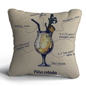 Pina Colada Print Cushion