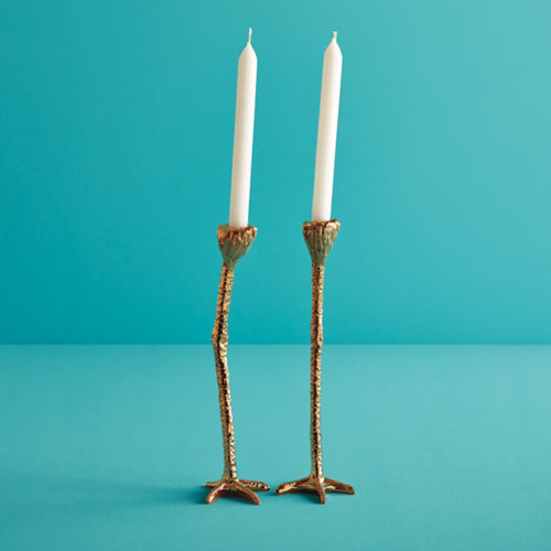 gold leg candle stick