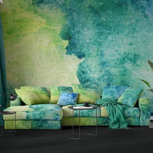 Green and Blue Marbled Sofa