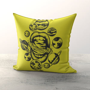 Yellow Planet Cushion