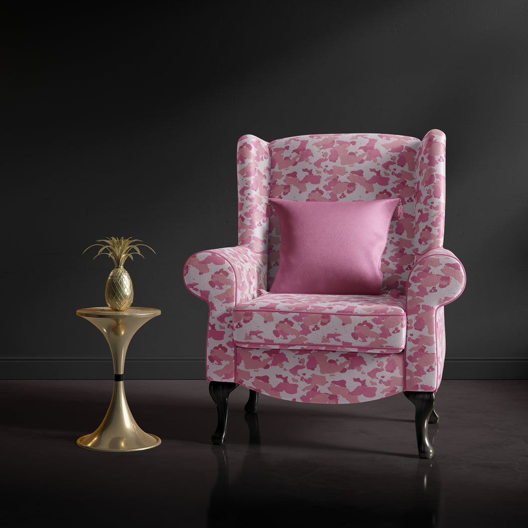 Pink Camouflage Accent Chair