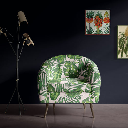 Green Botanical Occasional Chair