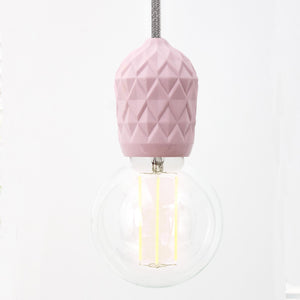 pink geometric light