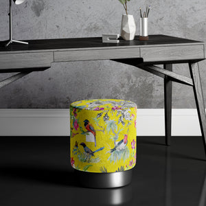 Large Bird Print Pouffe