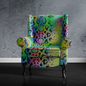 Snakeskin Print Accent Chair