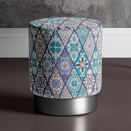 Large Traditional Print Pouffe