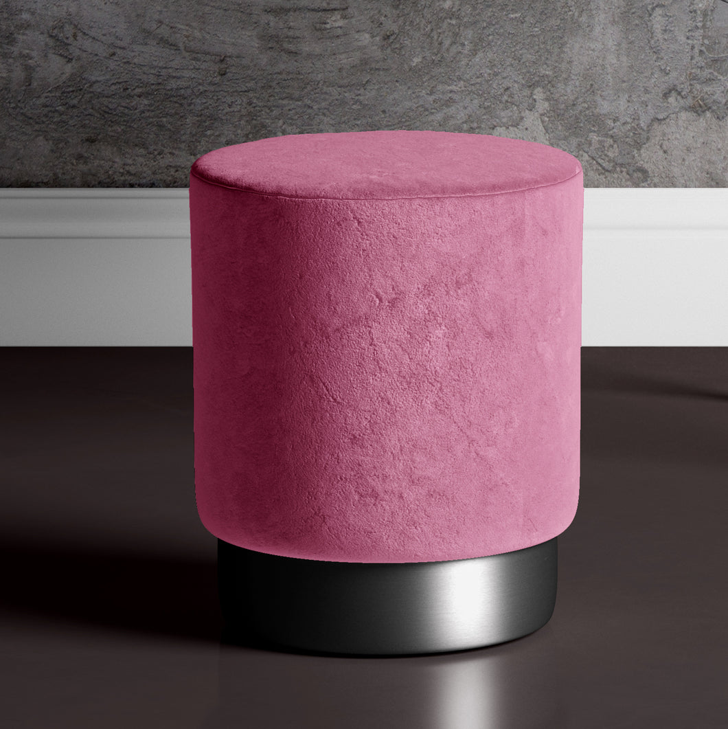 Large Bright Pink Pouffe