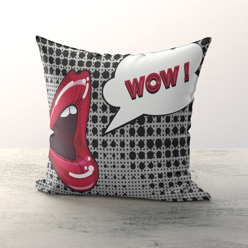 'WOW' Print Cushion