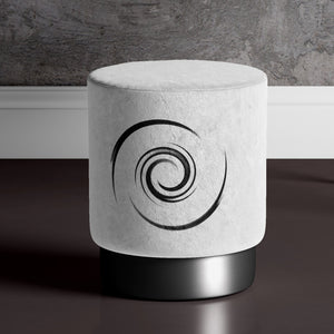 White Whirl Pouffe by Michael Banks