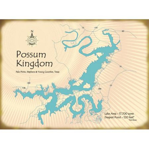 Possum Kingdom Lake Texas Map