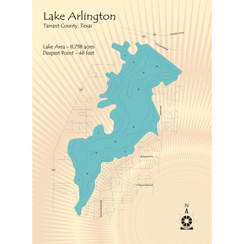 Lake Arlington Texas Map