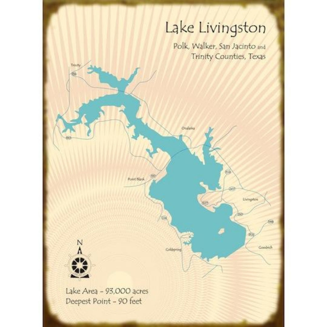 Lake Livingston Texas Map