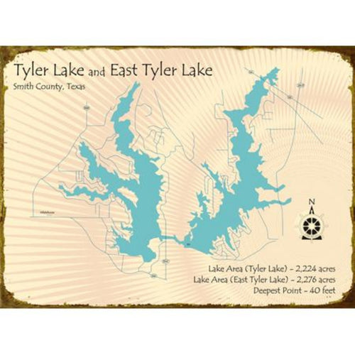 Tyler Lake Texas Map