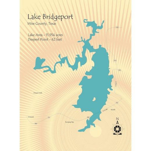 Lake Bridgeport Lake Texas Map