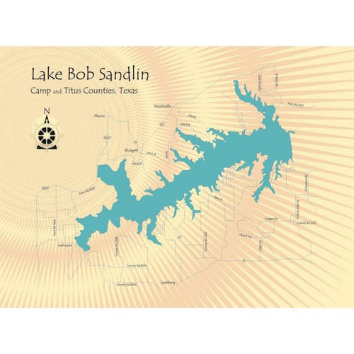 Lake Bob Sandlin Texas Map