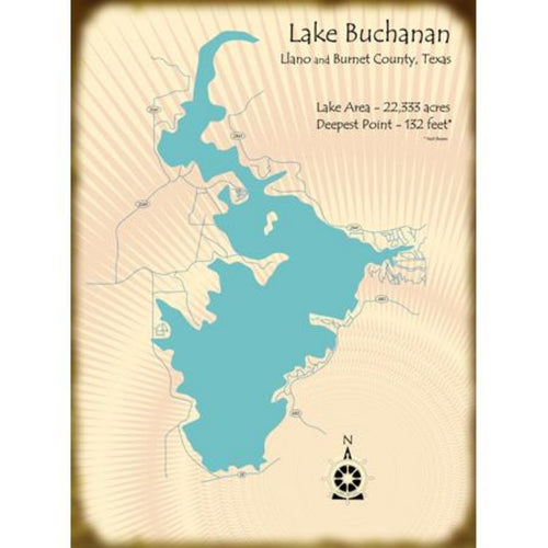 Lake Buchanan Texas Map