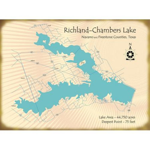 Richland Chambers Lake Texas Map