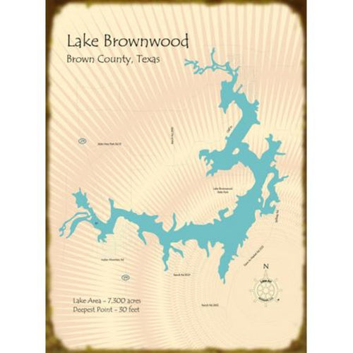 Lake Brownwood Texas Map