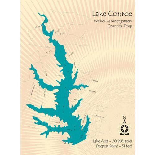 Lake Conroe Texas Map