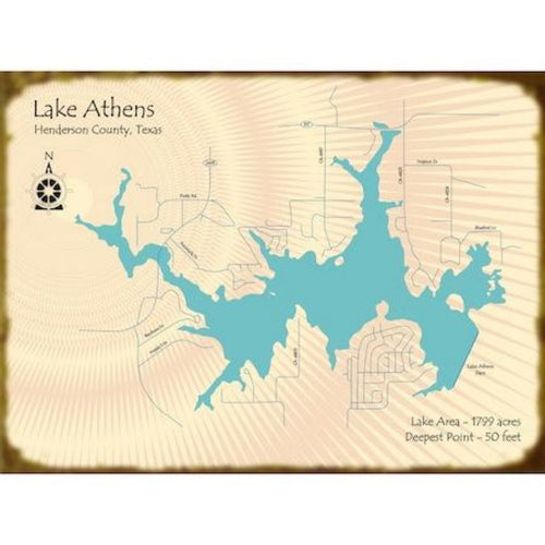 Lake Athens Texas Map