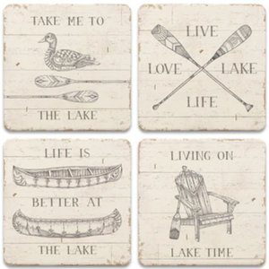 CoasterStone Lake Sketches Coaster Set