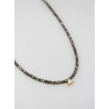 Load image into Gallery viewer, Pyrite Triangle Necklace