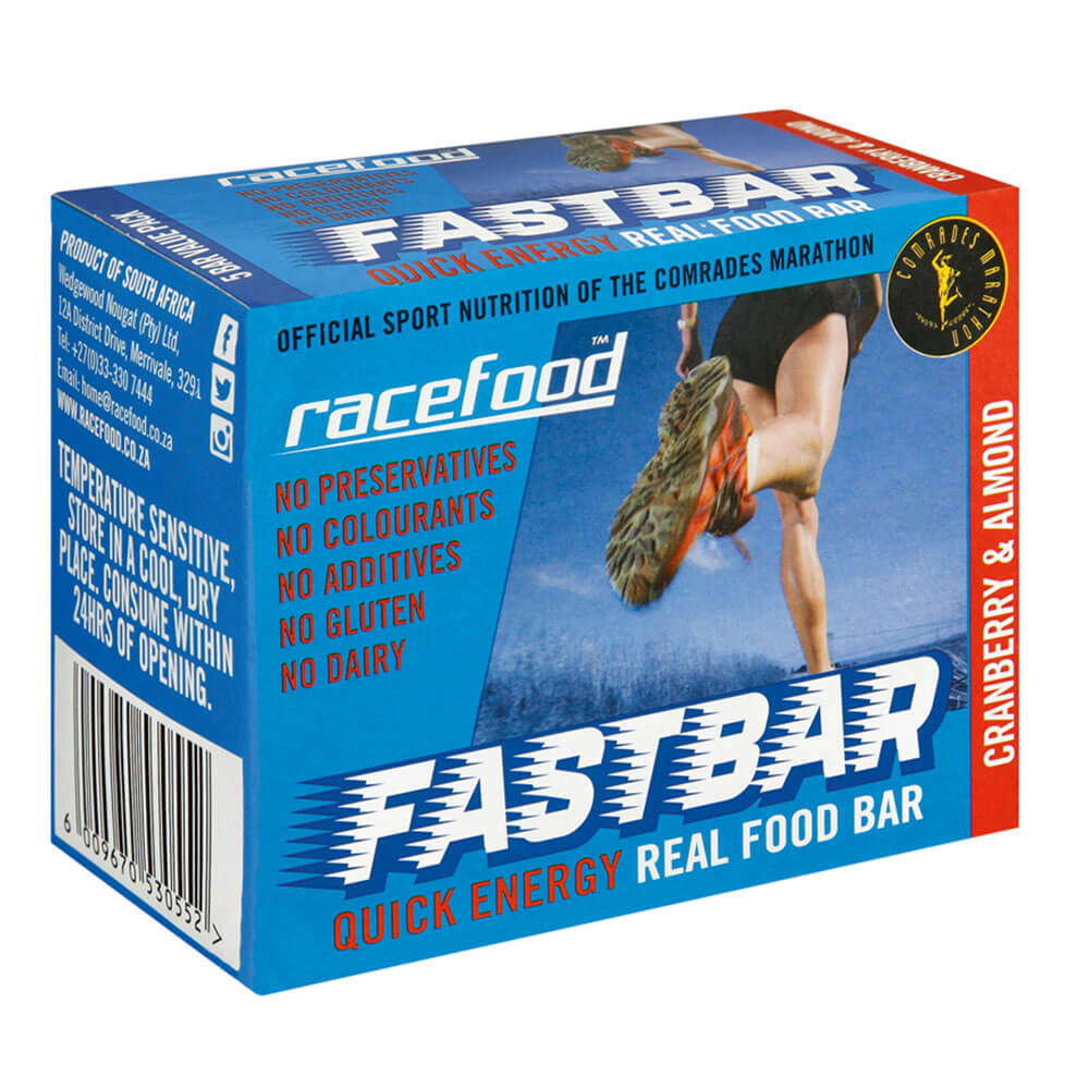 Racefood FASTbar: Cranberry & Almond - Box of 5