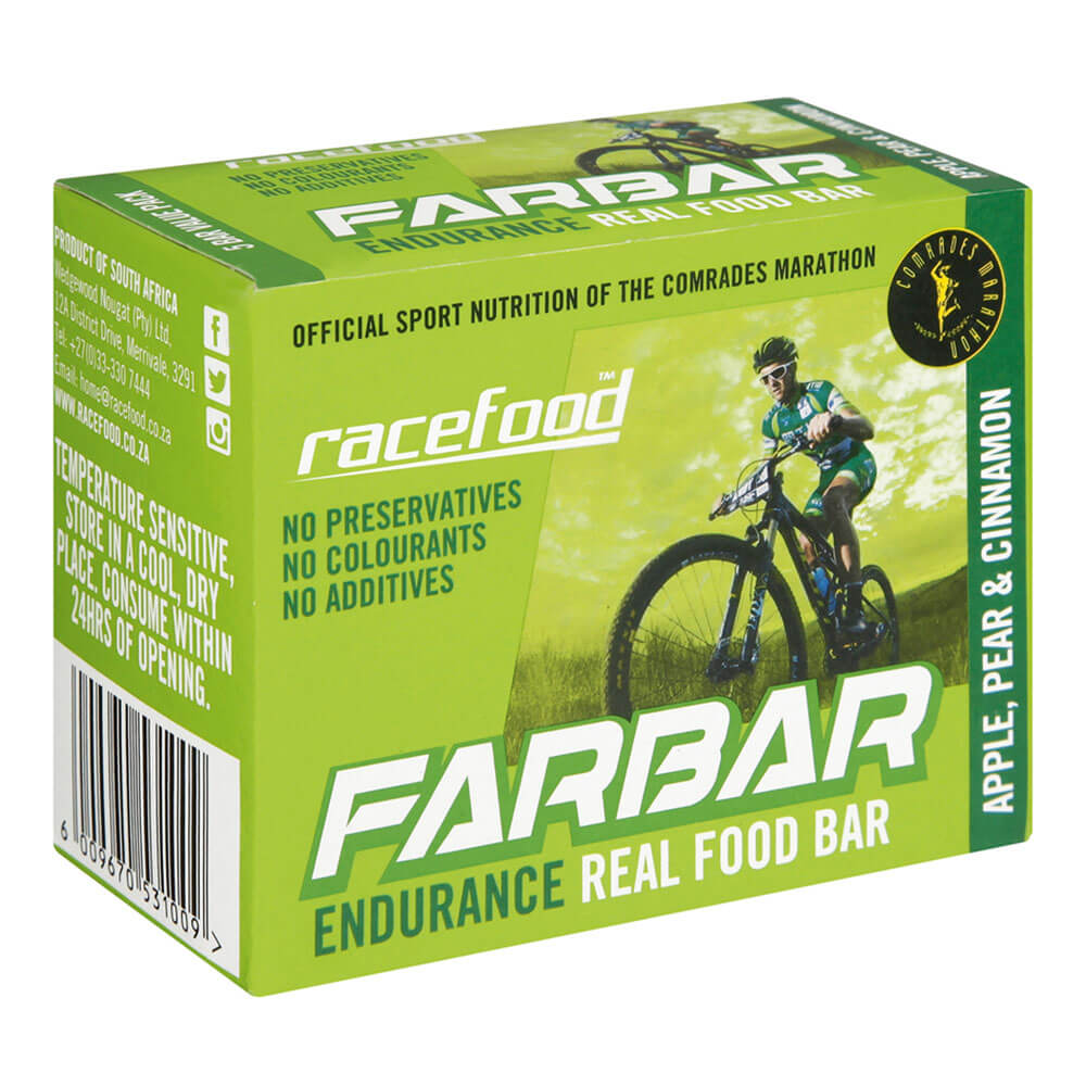Racefood FARbar: Apple, Pear & Cinnamon - Box of 5