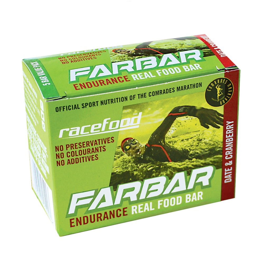 Racefood FARbar: Date & Cranberry – Box of 5