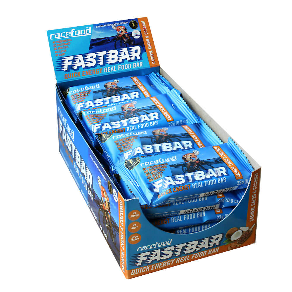 Racefood FASTbar: Coconut, Cacao & Cashew – Pack of 20