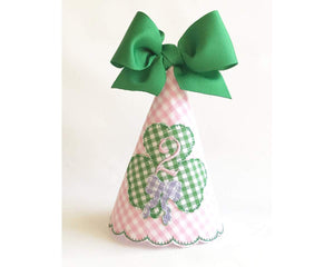 Gingham Shamrock Party Hat