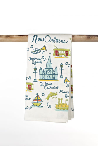 Vintage New Orleans Kitchen Towel