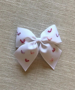"The ""Sara Em"" Hearts Embroidered Bow"