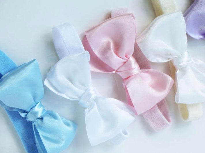 Big Satin Bow on a Soft Headband