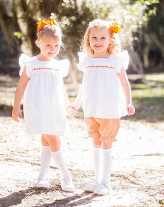 Little Louanne Palmer Pumpkin Bloomer Set