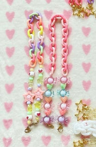 Blair & Avie Designs Avie Rainbow Chain with Beads Mask Lanyard
